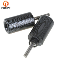 POSSBAY Carbon Fiber Motorcycle No Cut Frame Sliders Cafe Racer Falling Protection Anti Crash Pad For Suzuki GSXR 1000 2007 2008