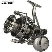 Goture II Cast серия Saltwater большая игра троллинг Спиннинг Рыболовная катушка 100% Полный металлический тяжелый длинный литье колеса с деревянной ко