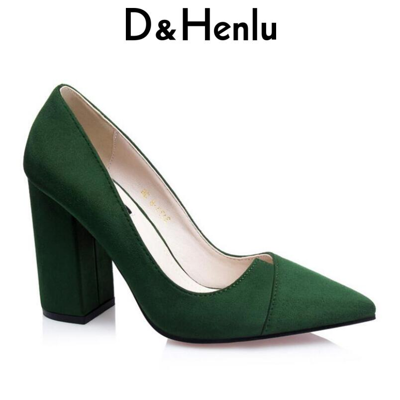 D Henlu Special Sale Thick Heels With High Heels Sexy Shoes Woman Heel  Gladiators Ladies Office Shoes Classic Pump Tacones Mujer 4a277a969068