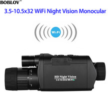BOBLOV Infrared Night Vision Goggles Telescope Binoculars Hunting WiFi Digital 3.5-10.5 x 32 HD Monocular