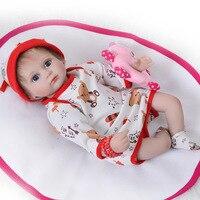 Ткань тела милый силикона Reborn Baby Doll с 17 дюймов реалистичные Bebe игрушки для детей популярные игрушки малыша Reborn Baby куклы Lol