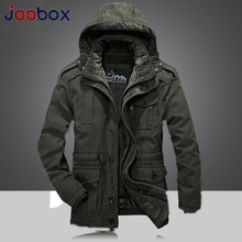 Men's Winter Thicken Warm Hooded Military Brand Army Green Jacket Coat Men Cotton 2018 khaki fleece thick coats Puls size 4XL недорого