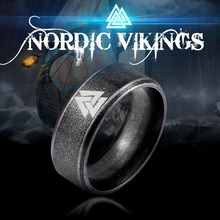 Beier 316L Stainless steel nose viking scandinavian Odin s Symbol Valknut for men Wedding Ring Cool fashion Jewelry LR-R093