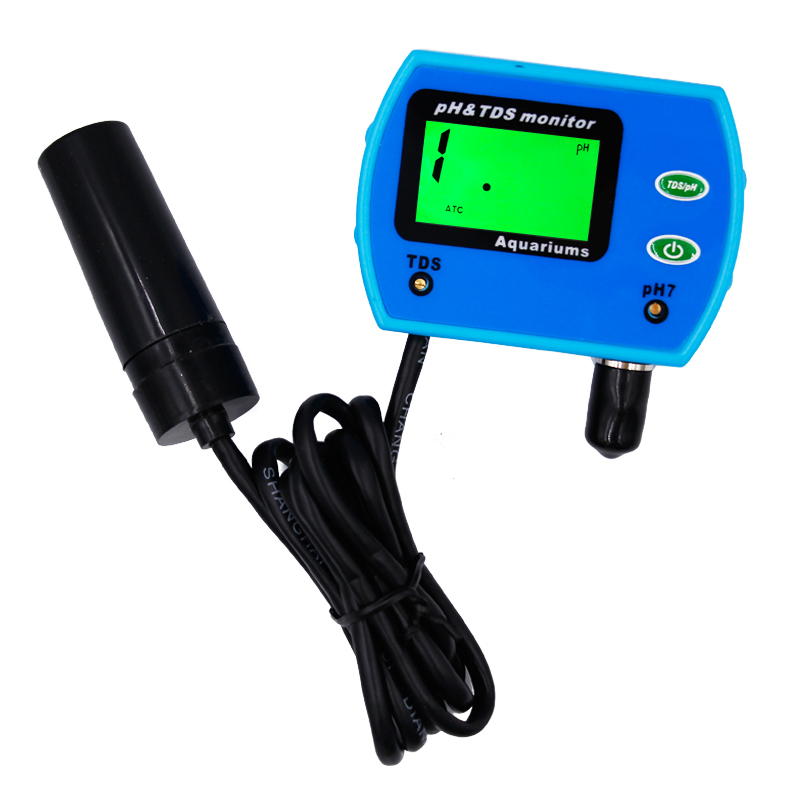 hot sales Multi-parameter Water Quality Monitor ph meter TDS tester tool 2 in1 Acidometer for Aquarium Analyser 20%off цены онлайн