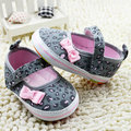 Симпатичная Девочка Обувь Против скольжения Хлопок Бантом ShoesToddler Детские Новорожденный Prewalker Мягкой Подошвой