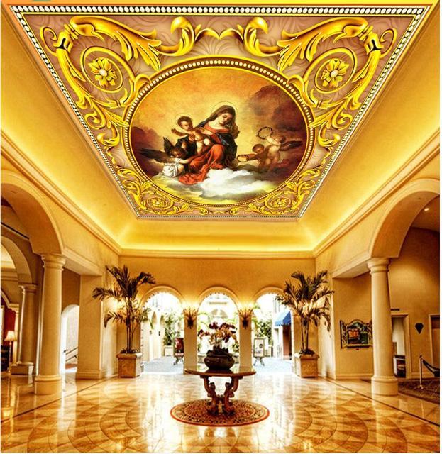 Custom photo 3d ceiling murals wallpaper The European celestial roof