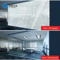 520x110mm Car White PDLC Film Smart Tint Film Switchable Pravicy Home Office Glass Window Viny+1pc 12v Car Adapter