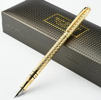 Hero 703 High Quality Luxury 10K Gold Fountain pen ink pen 0.5mm full metal