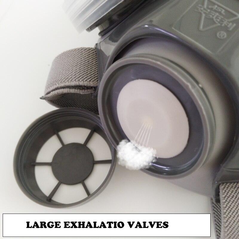 Маска от пыли для лица, респиратор для построителя, плотника, ежедневной дымки, защитная маска для работы, 5-слойная