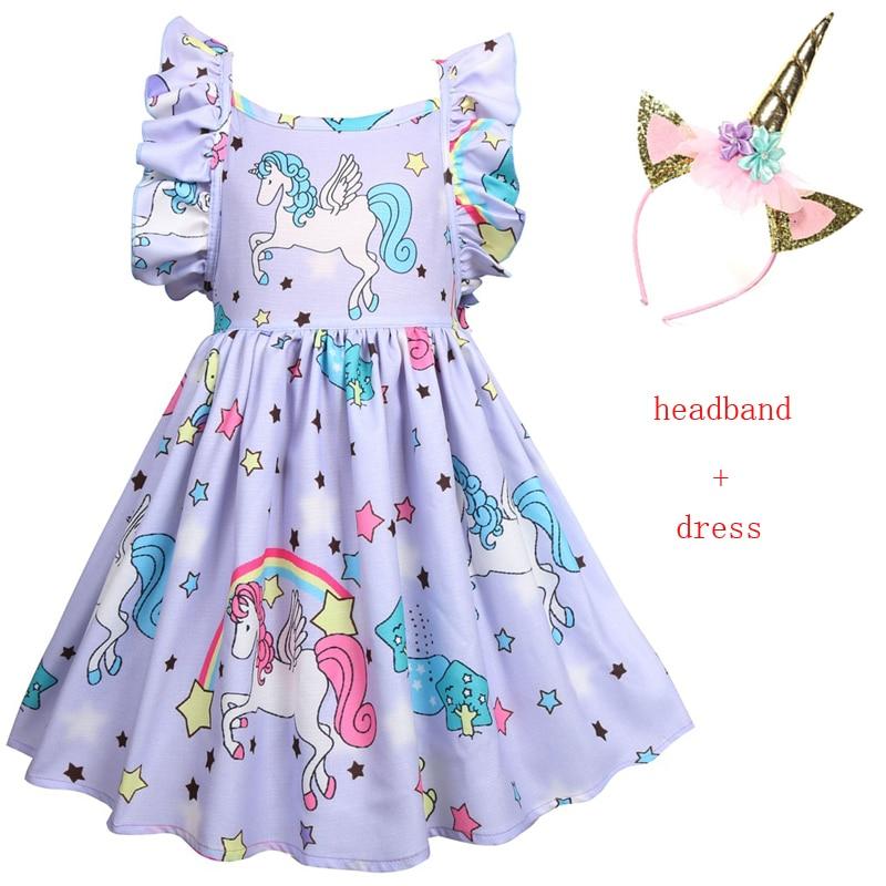 34995c66 Детское платье-пачка для малышей, костюмы единорога для девочек, детские  вечерние платья,