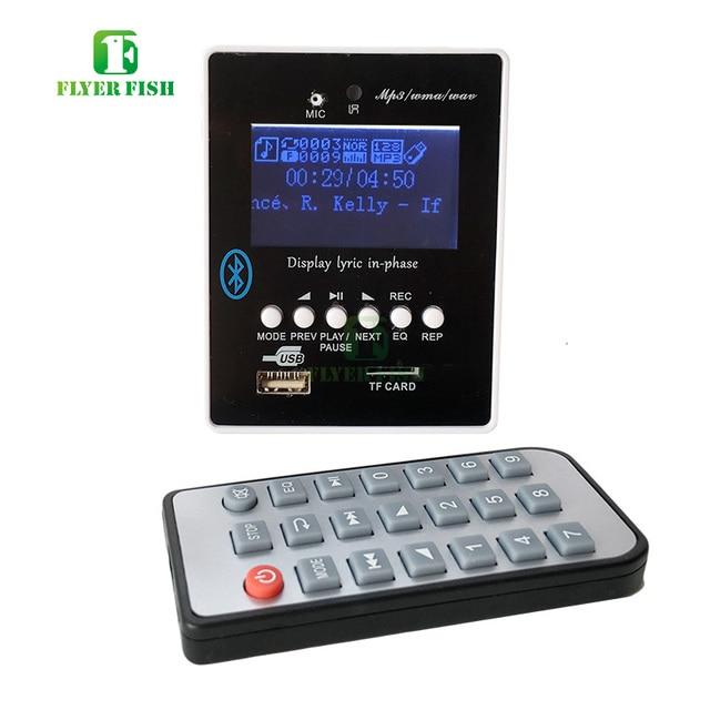 US $16 19 10% OFF|MP3 Alar music USB MP3 Player Module Support 32GB U Disk  TF Card Reader Media Lyric Blue LED Display Bluetooth TF Audio Board-in