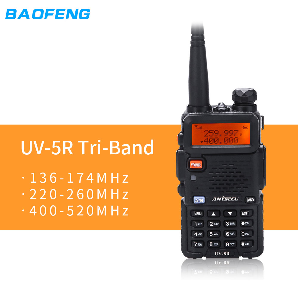 Baofeng Transceiver-Radio Walkie-Talkie 400-520mhz UV-5RX3 BF-R3 3band Handheld 136-174mhz
