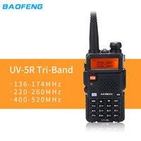 Baofeng UV-5RX3 BF-R3 Tri-Band handheld Walkie Talkie 136-174MHz 220-260MHz 400-520MHz 3Band UV 1.25M Transceiver Radio