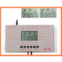 New 30A MPPT LCD Solar Charge Controller 12V/24V 380W/760W Solar Panel Regulator Auto Work Hot Selling