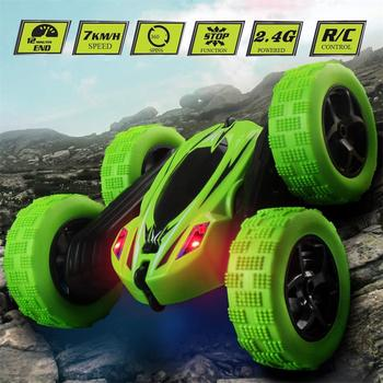 360 Degrees Rotating Double Sided RC Stunt Car with Light 1:24 Modeling Toy for Kids RC Cars Toys 2019 Gifts for Kids 1