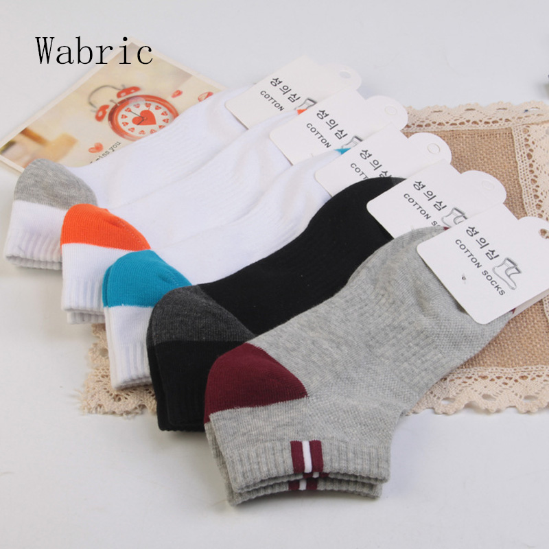 Socks men's spring and summer new cotton men's socks absorb sweat and deodorant boat socks men's socks 5 pairs
