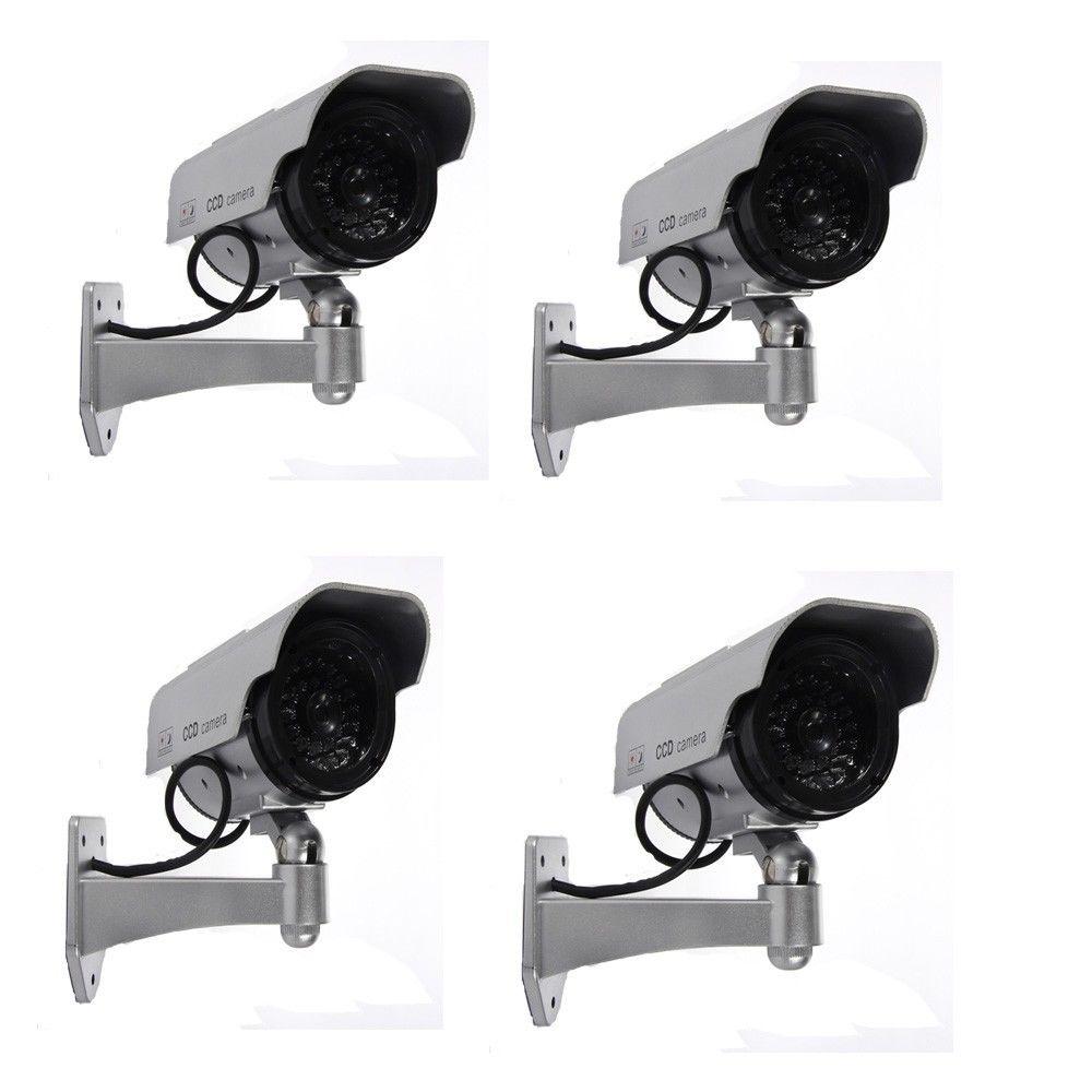 4X Flashing Light Dummy Fake Security Surveillance Camera solar power CCTV4X Flashing Light Dummy Fake Security Surveillance Camera solar power CCTV