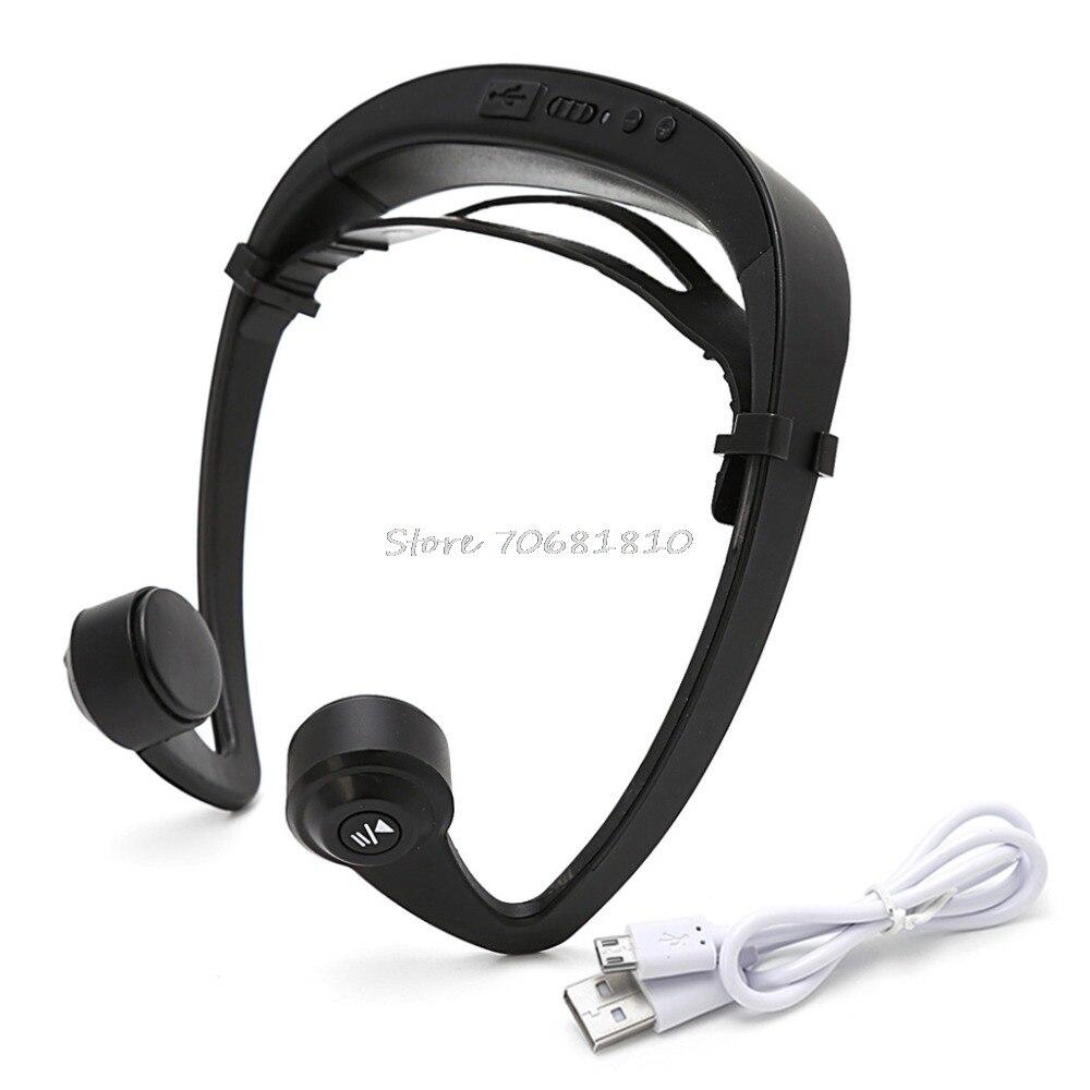V9 Ear Hook Bone Conduction Bluetooth 4.2 Sports Headphone Headset With Mic Adjustable headband For Android IOS Smartphone for cobra garmin two way radios in ear stlye bone conduction headset