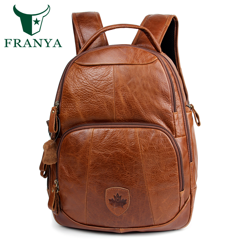 Unisex genuine leather laptop backpack women school bags mochila feminina travel backpacks mochilas leather bag for men doodoo fashion streaks women casual bear backpacks pu leather school bag for girl travel bags mochilas feminina d532