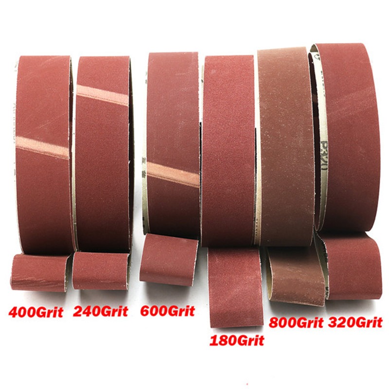 6pcs Sanding Belts Kit 180 240 320 400 600 800 Grit 2