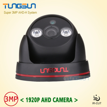 New Arrival Super 3MP HD 1920P AHD Camera Security CCTV Black indoor Dome Video Surveillance 2* Array infrared AHDH System
