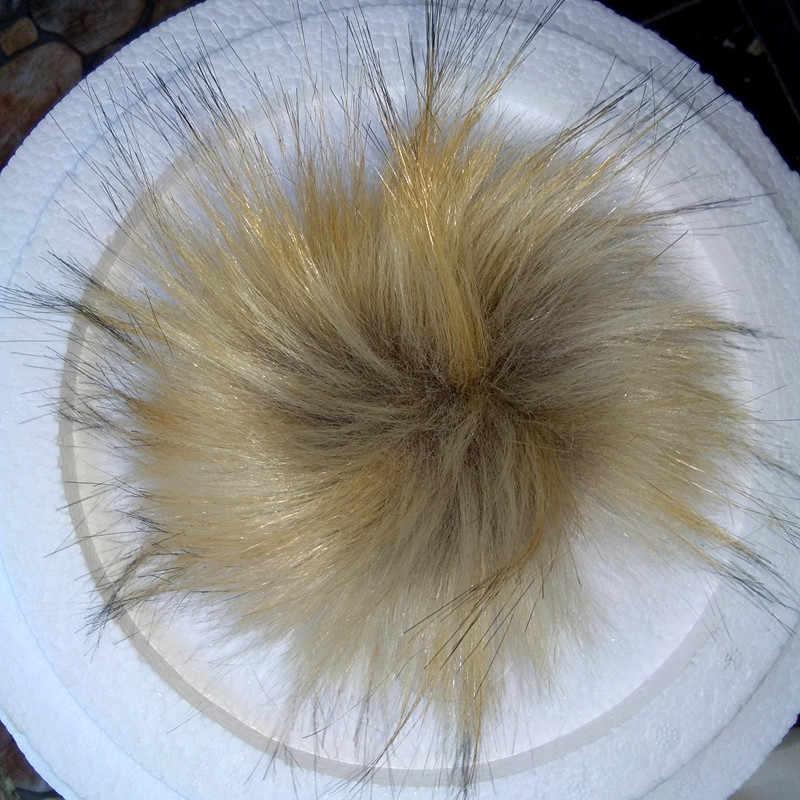 12 pcs Big pele de Guaxinim Pompom 15 centímetros Pompom Acessórios Para Sapato Cap Chave Pingente Cadeia de Jóias Bonito De Pele Falsa hand-made de lã grande