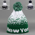 Autumn and Winter Men and Women NEW YORK Big Ball Jacquard Warm Ski Knitted Hat Wool Cap RX029