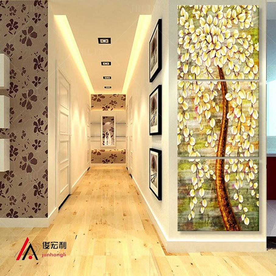 3 Stück Stereoskopischen Geld Baum Leinwand ölgemälde Druck Flur Wohnzimmer  Bilder An Der Wand Modulare Bild Leinwand Drucken In 3 Stück  Stereoskopischen ...