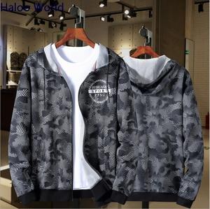 Image 1 - Haloo World Plus 10XL 9XL 8XL 2018 Fashion Men Brand Hip Hop camouflage Men Sweatshirt  Hoodie Jackets Mens Hoodies Men