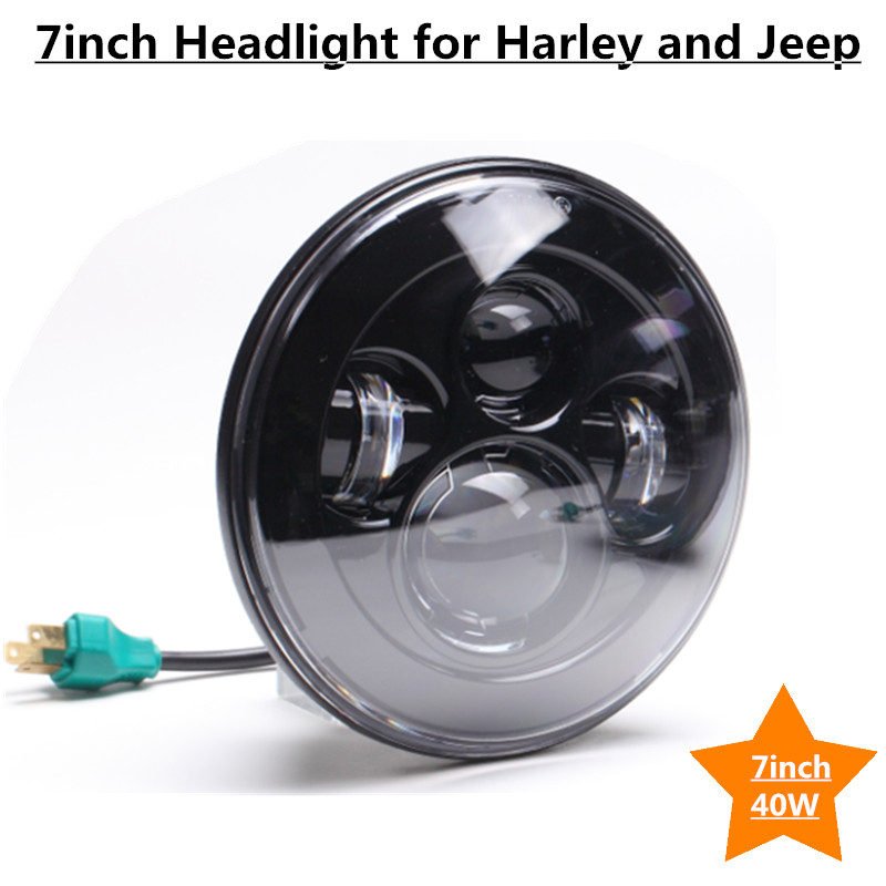 2X80W 7 C~REE LED Headlight kit Hi/Lo for J eep Wrangler TJ LJ JK Off road Driving fog light 7600LM Canbus 2pcs free shipping 7 led headlight hi low beam with color drl 12v 24v c ree led headlight for j eep offroad 4x4