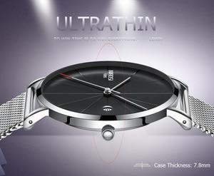 Image 3 - NIBOSI Ultra דק אופנה גברים שעון יוקרה למעלה מותג עסקים קוורץ שעונים עמיד למים ספורט שעון גברים שעון Relogio Masculino