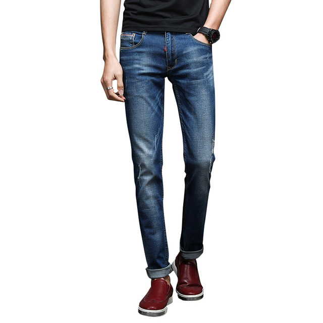Aliexpress.com : Buy Ripped Skinny Jeans Men Stretch Hole Jeans ...