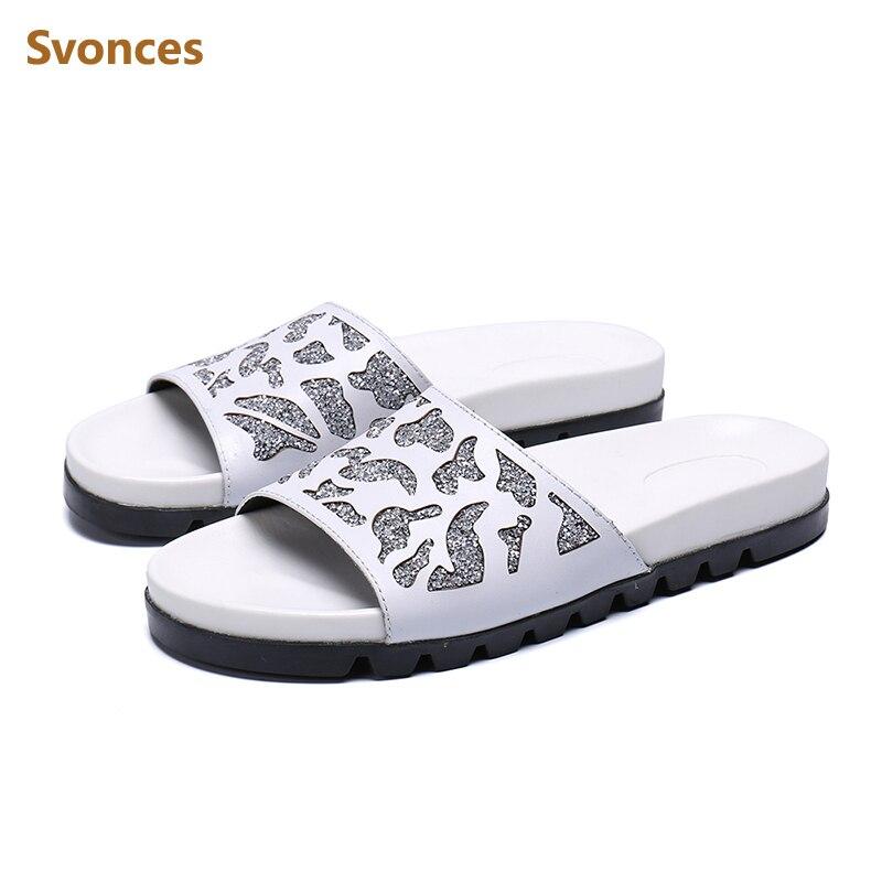 83097dc68 Branco Eu46 Cristal Designer Preto Homem Saltos De Baixos Show Chinelos  Apartamentos as Outdoor Sapatos As ...