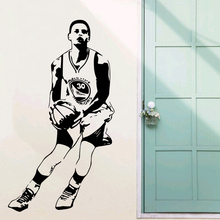 Free shipping diy wallpaper Basketball superstar Stephen Curry wall stickers Home Decoration Stickers for kids room
