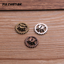 Pendant Charms Fit-Jewelry Steampunk Makings Small Metal 15mm 20PCS Three-Color Zinc-Alloy