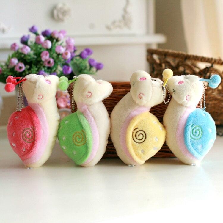 20pcs 14cm Snail Stuffed Plush Animals Turbo Snail Plush Toy For Promotion High Qualith Machine grasp