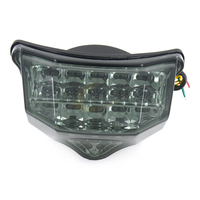 Motorcycle LED Rear Turn Signal Tail Stop Light Lamps Integrated For YAMAHA FZ6 FAZER 600 2004