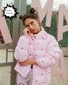 2017 bonito de kawaii lolita doce amor rosa bordado casacos das mulheres casacos de inverno do bebê do vintage casaco idiota preguiçoso