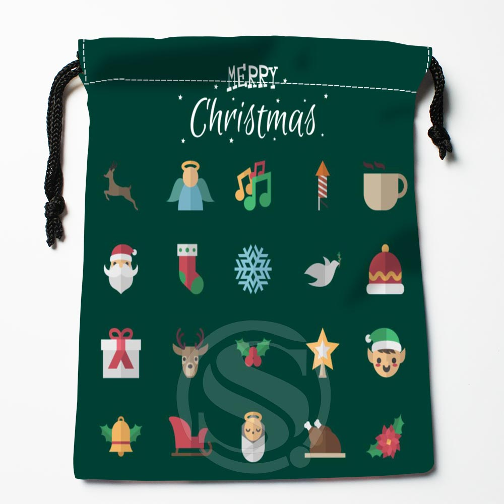 TF&142 New Christmas Tree #!21 Custom Printed Receive Bag Bag Compression Type Drawstring Bags Size 18X22cm #812#142WM