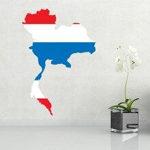 Flag of Thailand wall vinyl sticker custom fashion design made home decoration wall sticker wedding decoration PVC wallpaper