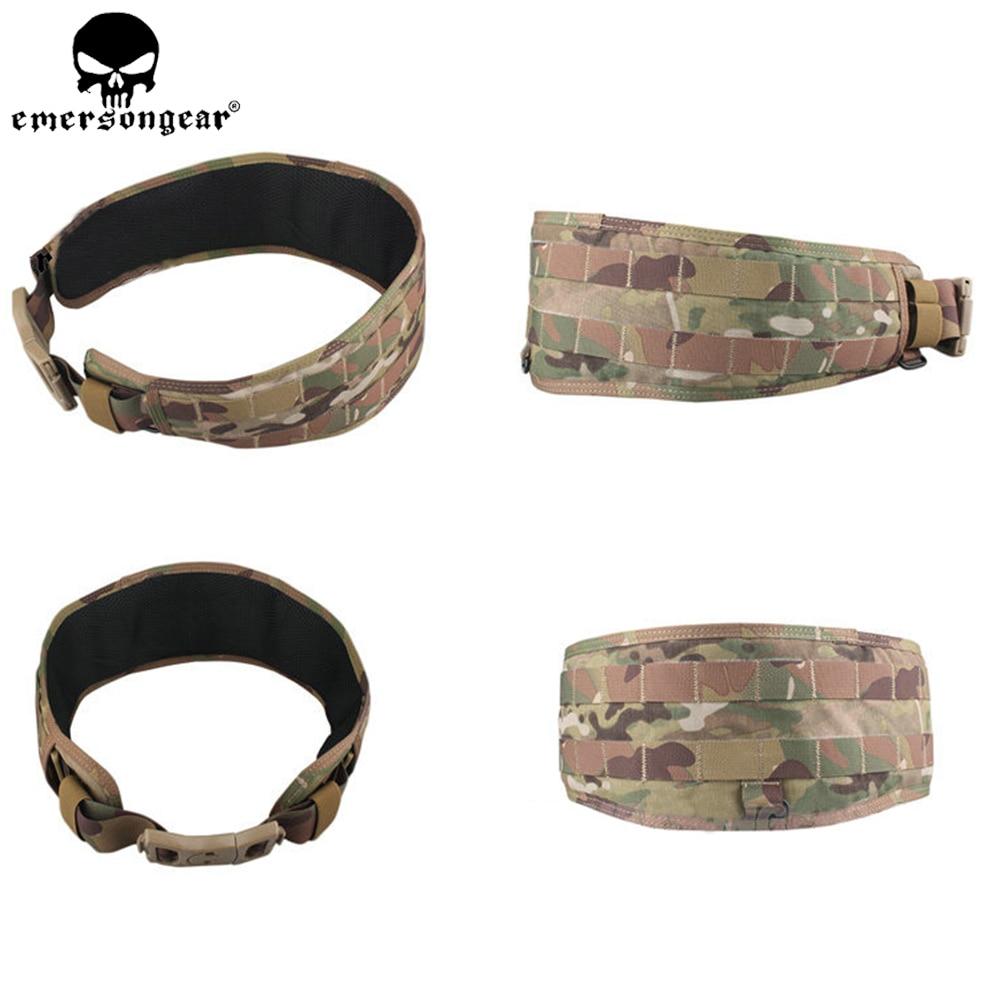 Molle Belt Tactical Airsoft Paintball Combat Molle Belt LBT1647B Style Padded Waist Belt Multicam Black EM9012