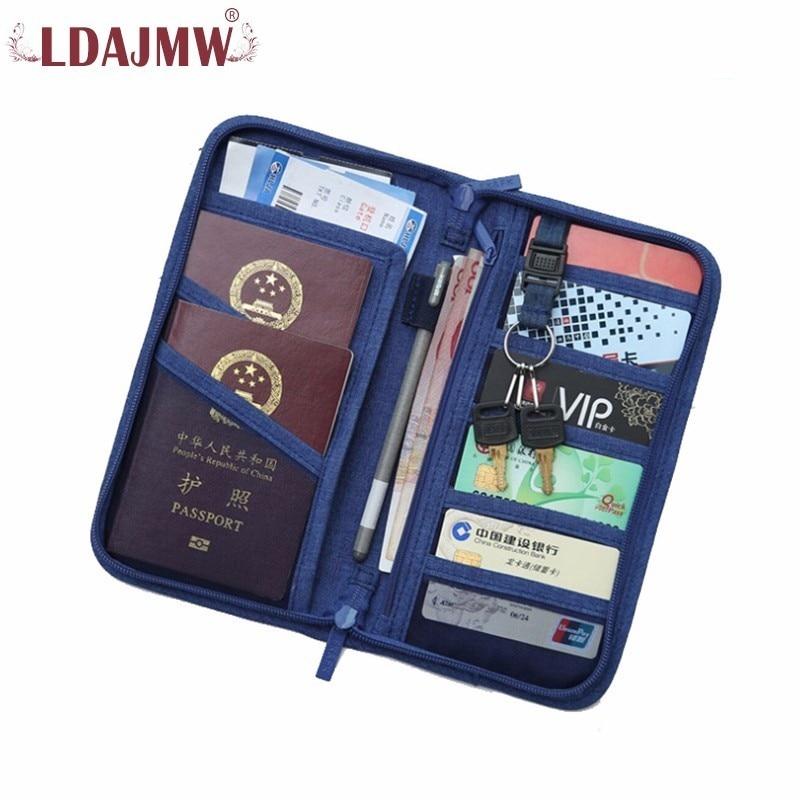 LDAJMW New Pattern Unisex Zipper Nylon Wallet Passport Card Tickets Holder With Key Ring Female Purse Men Wallets
