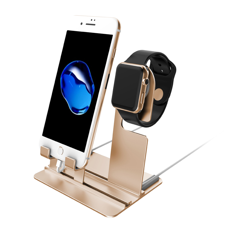charger stand dock For Apple Watch 42mm/38/44/40mm iwatch 4 3 2 1 iPhone 8 X 8Plus samsung S8 S8 Charging Dock Station Stand crested charger for apple watch band iwatch series 4 3 2 1 qi wireless iphone x 8 plus samsung 10w fast charging dock station