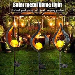 Image 2 - LED שמש להבת אור מתכת LED גן אור להבת אפקט מנורה עמיד למים חיצוני אורות נוף אורות שמש דקורטיבי אור