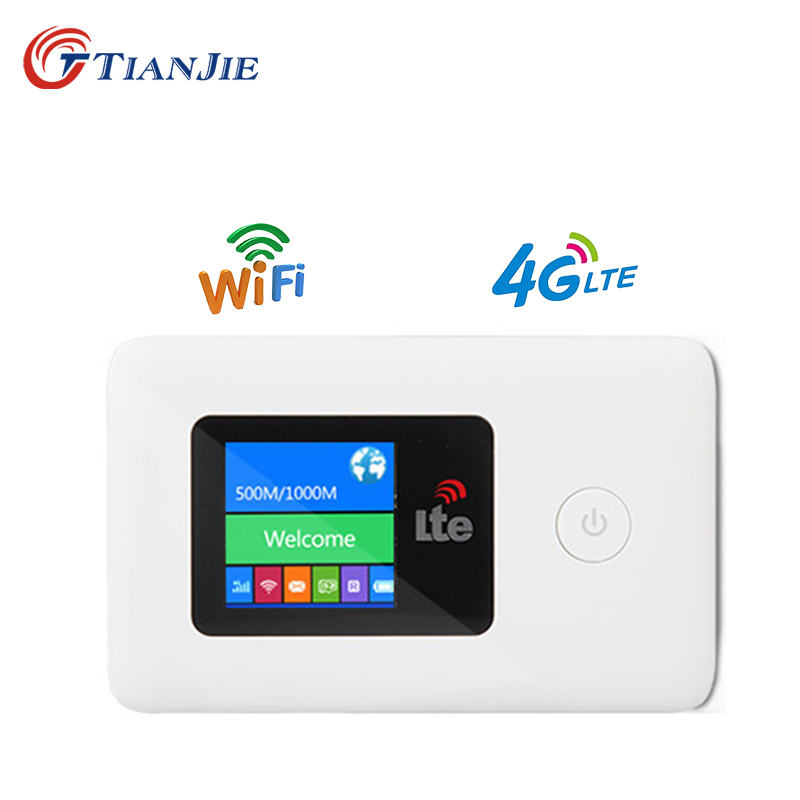 TIANJIE LR112 4G WIFI Router Mobile WiFi Travel Partner Wireless Pocket Mobile Wifi Router car wifi router With SIM Card Slot|Modem-Router Combos| |  - title=