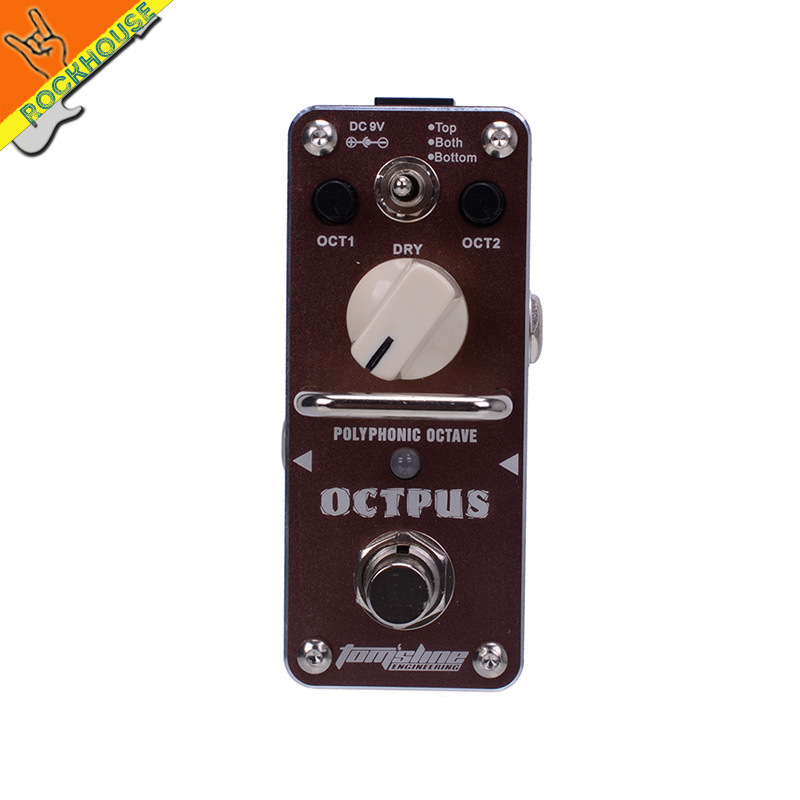 AROMA AOS-3 Polyphonic Octave Guitar Effects Pedal Digital Octaver Pedal Dual Octave Generator Effects True Bypass Free Shipping aob409l b409l aos to 263