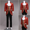 ML-004 Victorian /Civil War black/white  mens period costume Medieval Renaissance stage performance/Prince charming William