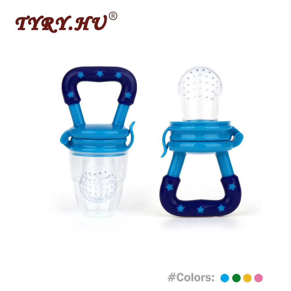 TYRY.HU Baby Nipple Fruit Silicone Teether 1Pc Soft Safety Feeder Baby Teething Oral Care Food Nipple Holder Pacifier Food Grade