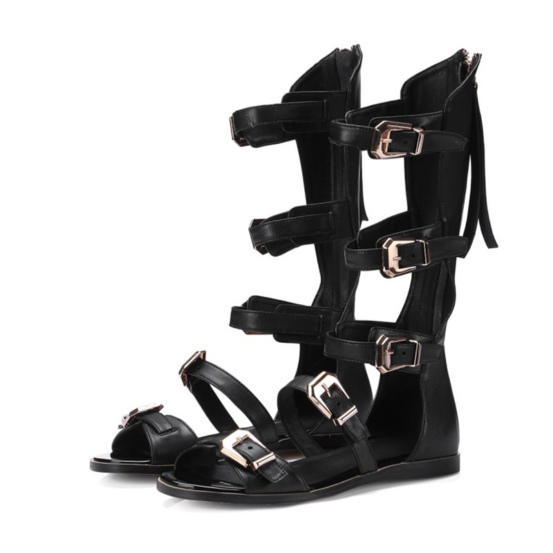 Chaussures D'été Grande Populaire Sexy Haute Mode 41 Qualité Promotionnel Taille Pu 1 Sandales Plates 34 Femmes 2 De Produit 40qx5w1O