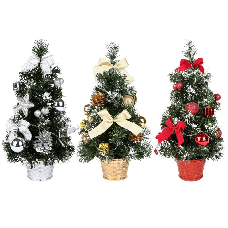 Mini Christmas Potted Plant With Led Light String Christmas Tree For